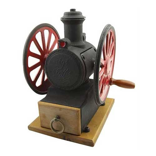 Manual Coffee Grinder with Red Wheels