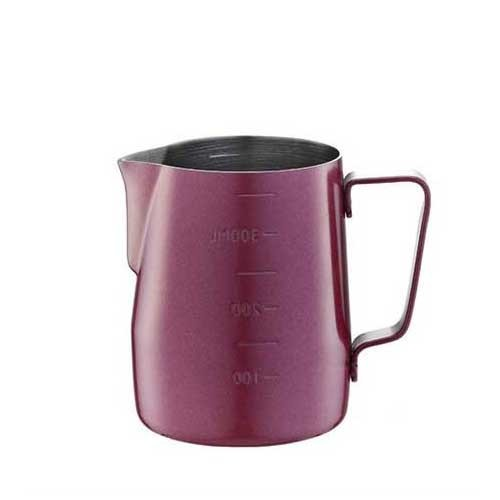 Tiamo Milk Pitcher Red 360ml with Scale (HC7086RD)