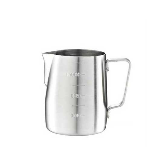 Tiamo Milk Pitcher Silver 360ml with Scale (HC7083)