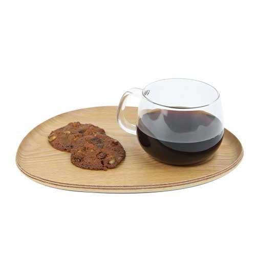 Kinto Fika Cafe Lunch Wood Glass (22588)