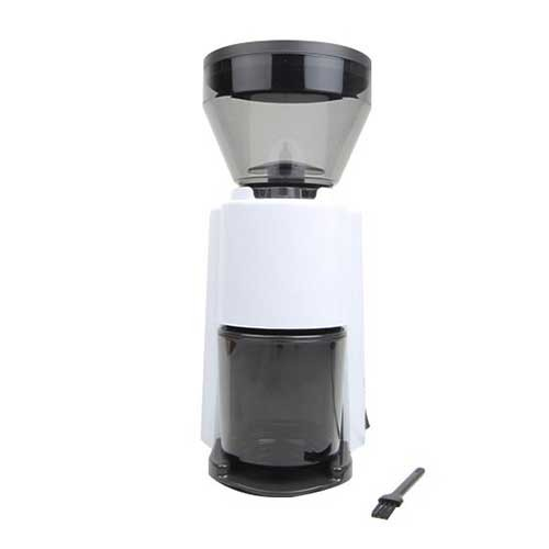 Welhome Coffee Grinder Conical Burr with Timer ZD-10T White