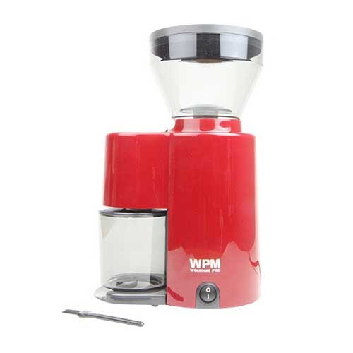 Welhome Coffee Grinder Conical Burr ZD-10RD Red