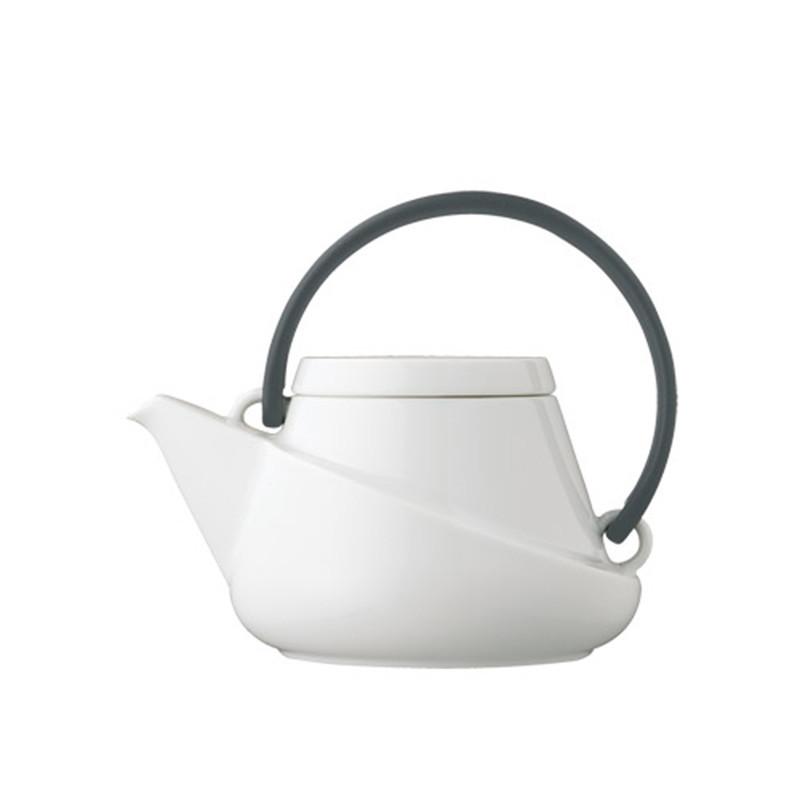 Kinto - Ridge Teapot 450ml with Strainer Black Handle (27435)