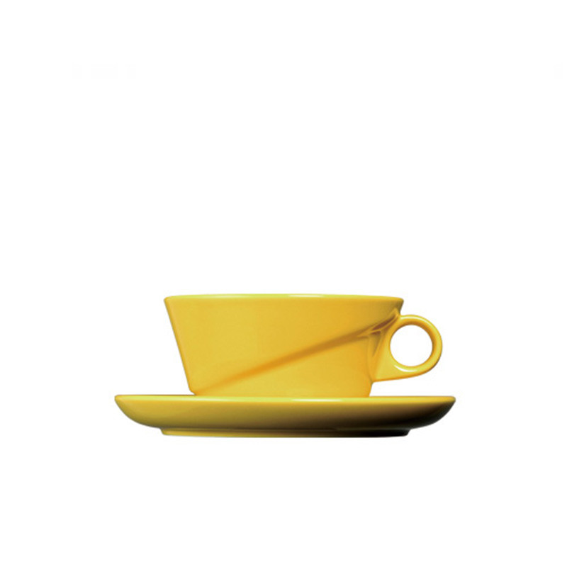 Kinto - Ridge Cup and Saucer Yellow (23568)