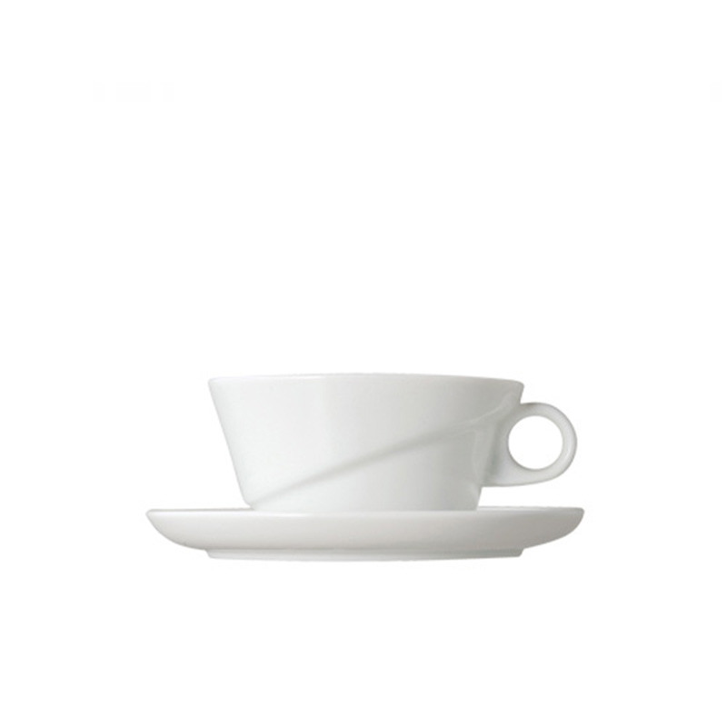 Kinto - Ridge Cup and Saucer White (27443)