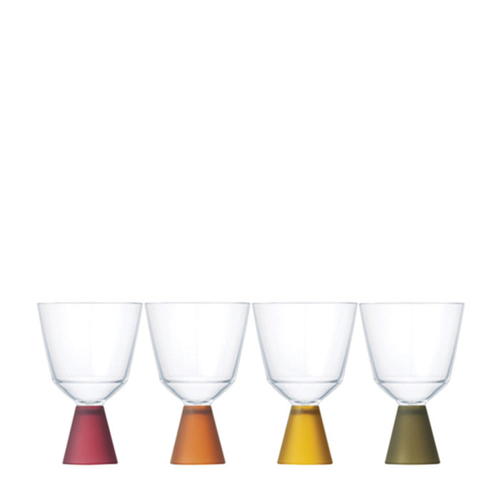 Kinto - Festa Wine Glass 4 pcs Colors (21334)