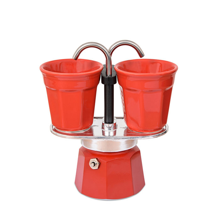Bialetti Mini Express Set Red 2 Cups Otten Coffee