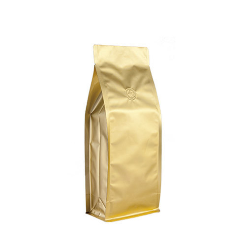 Coffee Bag 500G Box Pouch Gold (10pcs)