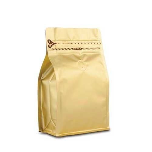 Coffee Bag 500G Box Pouch with Zipper Gold (10pcs)