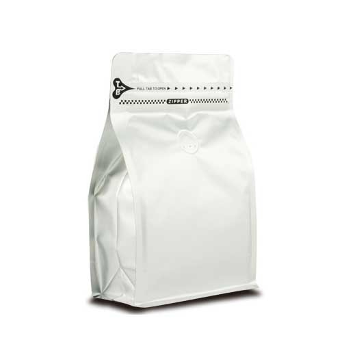 Coffee Bag 500G Box Pouch with Zipper Silver (10pcs)