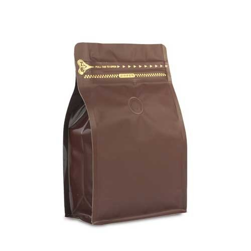 Coffee Bag 500G Box Pouch with Zipper Brown (10pcs)