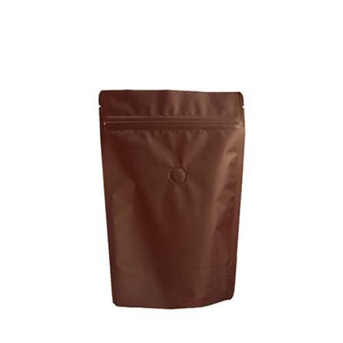 Coffee Bag 250G Standup Zipper Pouch Brown (10pcs)