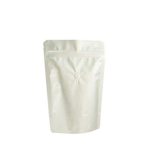 Coffee Bag 250G Standup Zipper Pouch Silver (10pcs)