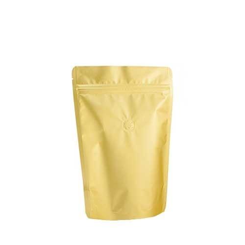 Coffee Bag 250G Standup Zipper Pouch Gold (10pcs)