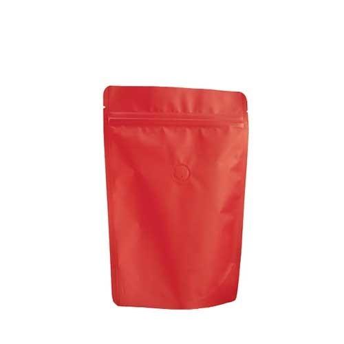 Coffee Bag 250G Standup Zipper Pouch Red (10pcs)