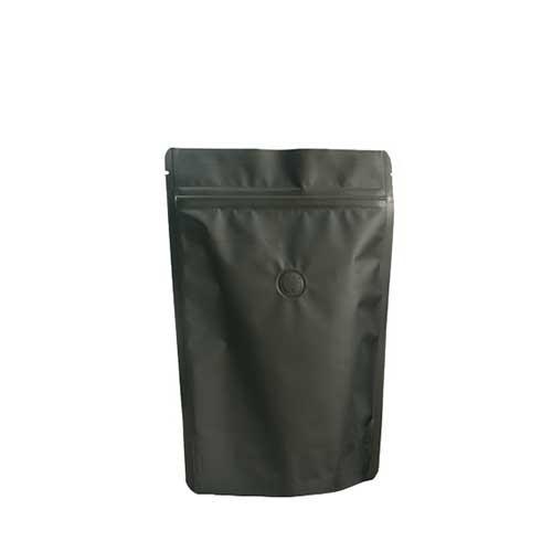 Coffee Bag 250G Standup Zipper Pouch Black (10pcs)