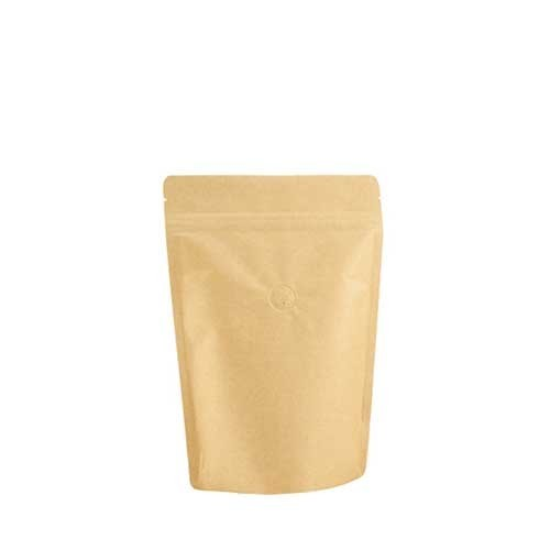 Coffee Bag 250G Standup Zipper Pouch Kraft (10pcs)