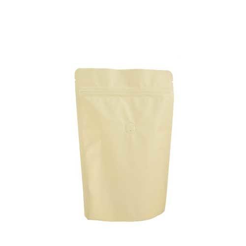 Coffee Bag 250G Standup Zipper Pouch Cream (10pcs)