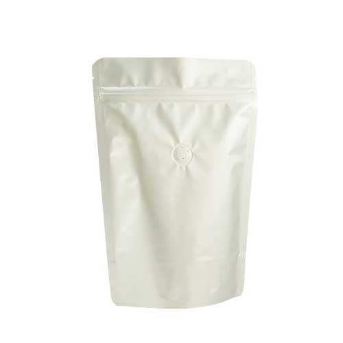 Coffee Bag 500G Standup Zipper Pouch Silver (10pcs)