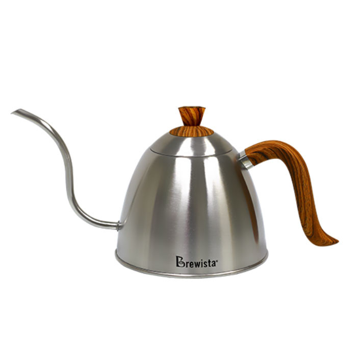 Brewista - Stovetop Gooseneck Kettle with Wood Grain Handle and Lid 700ml (BV382607STW)