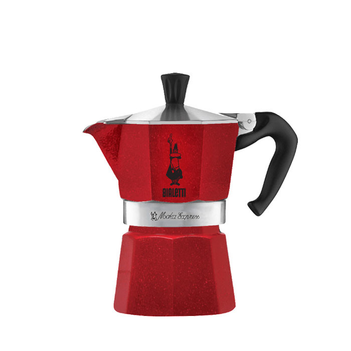 Bialetti Moka Express Emotion Red 3 Cups