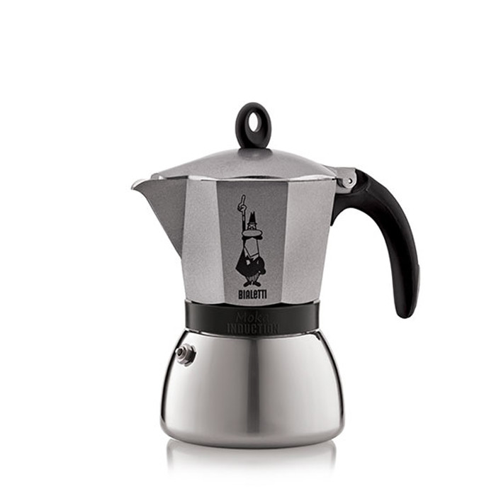 Bialetti Moka Induction Anthracite 6 Cups Otten Coffee