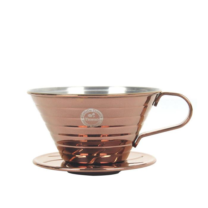 Tiamo - K02 Stainless Steel Coffee Dripper 2-4 Cups (HG5050BZ)