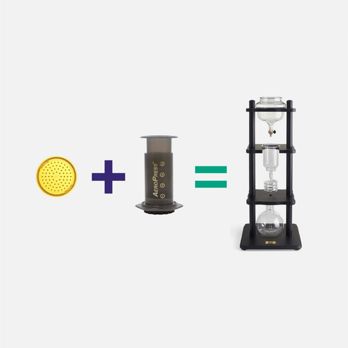 PUCKPUCK - Cold Drip Coffee System for Aeropress and Water Vessel 500ml