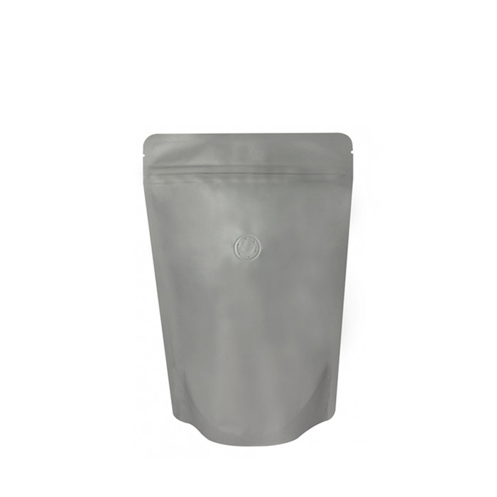 Coffee Bag 250G Standup Zipper Pouch Gray (10pcs)
