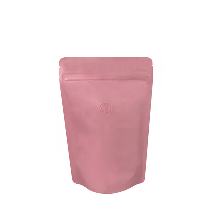 Coffee Bag 250G Standup Zipper Pouch Pink (10pcs)