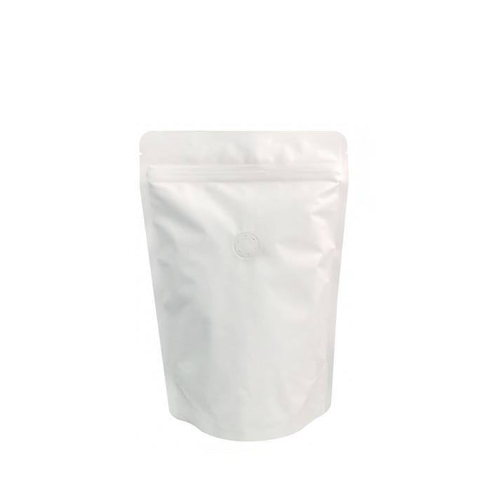 Coffee Bag 250G Standup Zipper Pouch Matte White (10pcs)