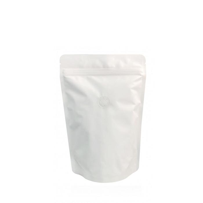 Coffee Bag 250G Standup Zipper Pouch White Kraft (10pcs)