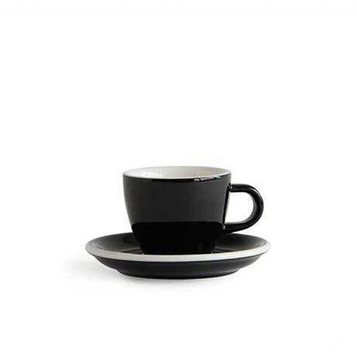 ACME - Demitasse Cup 70ml with Saucer Black (Penguin)