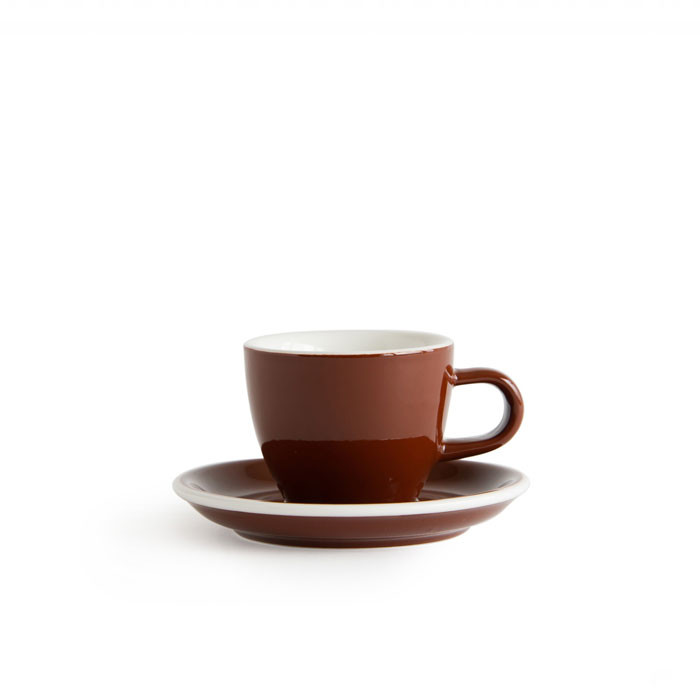 ACME - Demitasse Cup 70ml with Saucer Brown (Weka)