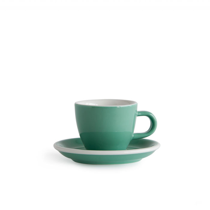 ACME - Demitasse Cup 70ml with Saucer Green (Feijoa)