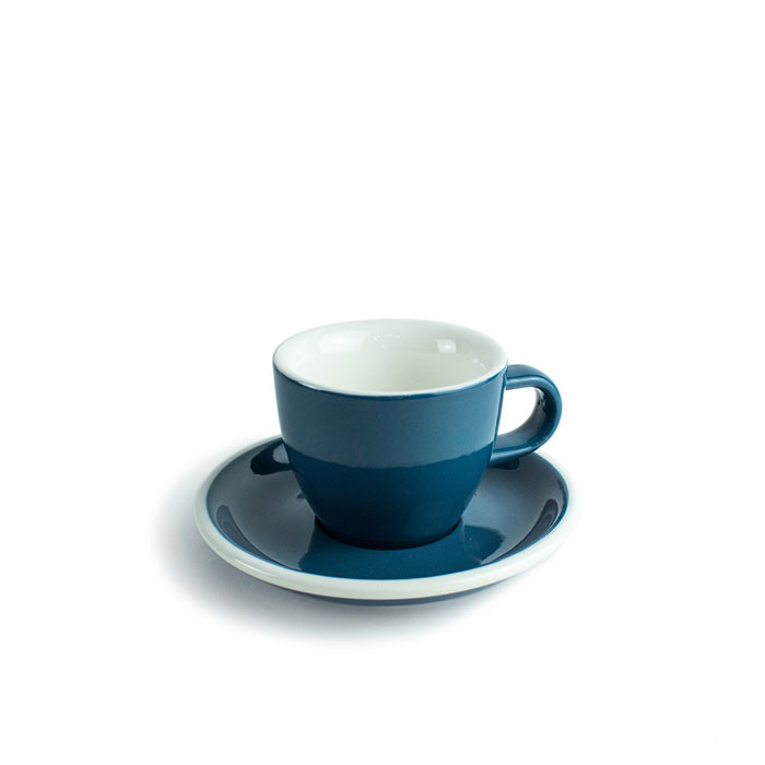 ACME - Demitasse Cup 70ml with Saucer Dark Blue (Whale) - Otten Coffee:  Sell Coffee Machine, Grinder & Tools