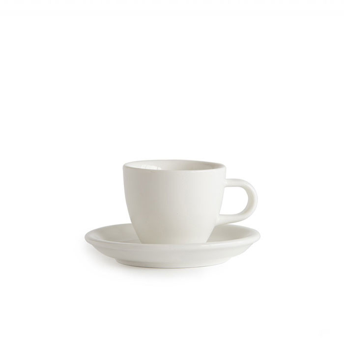 ACME - Demitasse Cup 70ml with Saucer White (Milk)