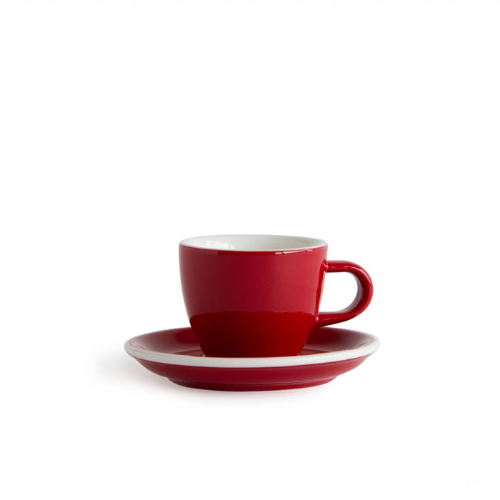 ACME - Demitasse Cup 70ml with Saucer Red (Rata)