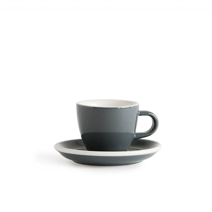 ACME - Demitasse Cup 70ml with Saucer Grey (Dolphin) - Otten Coffee: Sell  Coffee Machine, Grinder & Tools