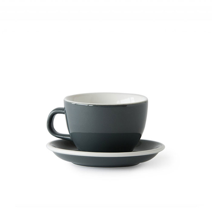 ACME - Flat White Cup 150ml with Saucer Grey (Dolphin)