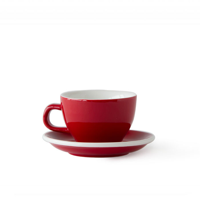 ACME - Flat White Cup 150ml with Saucer Red (Rata)