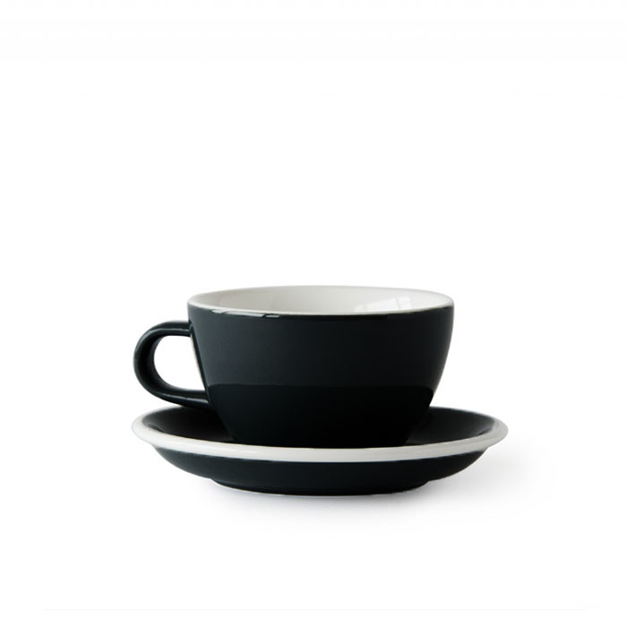 ACME - Cappuccino Cup 190ml with Saucer Black (Penguin)