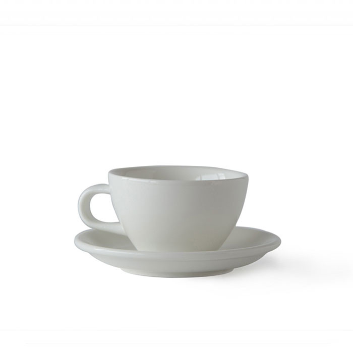 ACME - Cappuccino Cup 190ml with Saucer White (Milk)