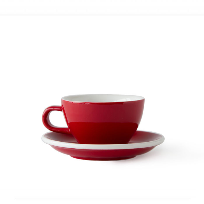 ACME - Cappuccino Cup 190ml with Saucer Red (Rata)