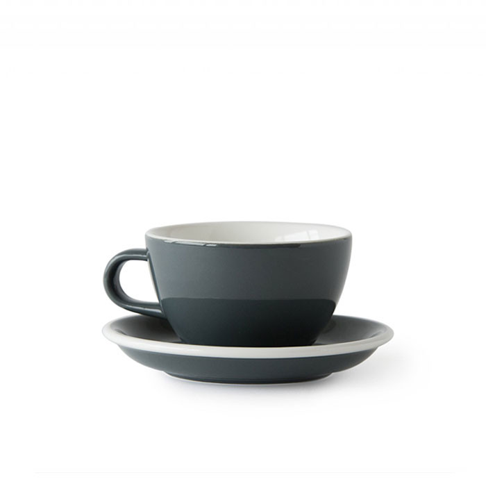 ACME - Cappuccino Cup 190ml with Saucer Grey (Dolphin)