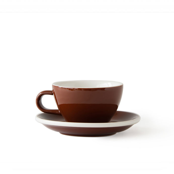 ACME - Cappuccino Cup 190ml with Saucer Brown (Weka)