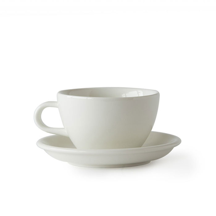 ACME - Latte Cup 280ml with Saucer White (Milk)