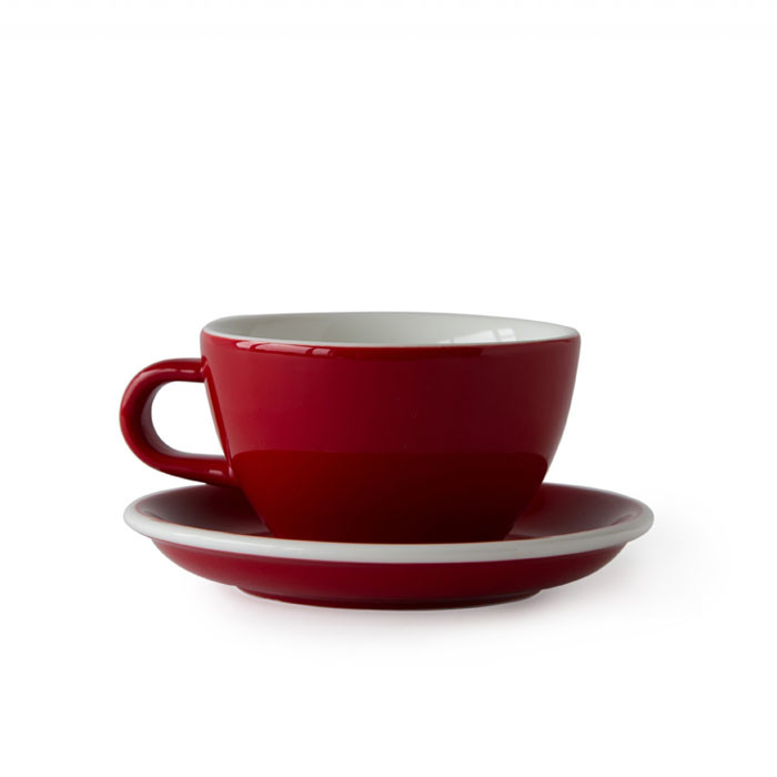 ACME - Latte Cup 280ml with Saucer Red (Rata)