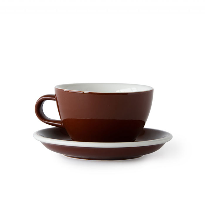 ACME - Latte Cup 280ml with Saucer Brown (Weka)
