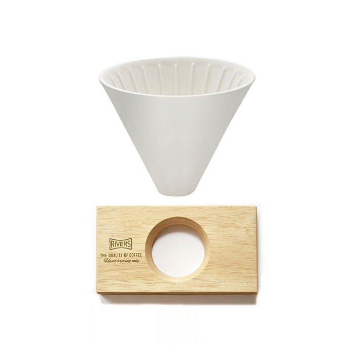 Rivers - Coffee Dripper Cave + Holder (Natural)